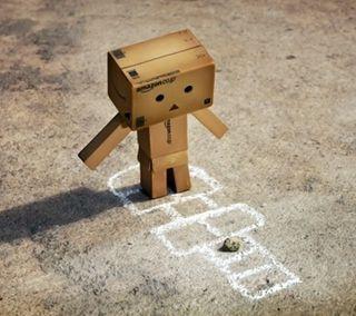 Обои на телефон коробка, робот, amazon box robot 08, amazon