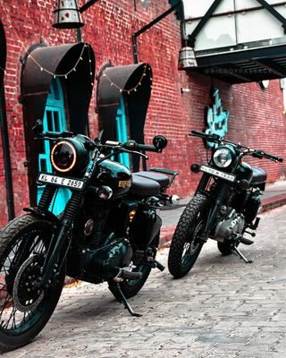 Обои на телефон ночь, мотоциклы, байк, royal, motor, bullet royal enfield, bullet