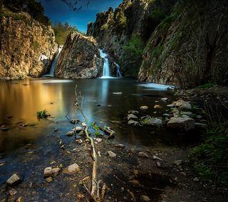 Обои на телефон природа, пейзаж, водопад