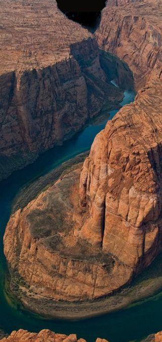 Обои на телефон река, пустыня, коричневые, каньон, камни, выемка, великий, oneplus, grand canyon notch, grand canyon
