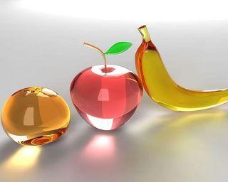 Обои на телефон фрукты, стекло, мастер, note, glass fruits