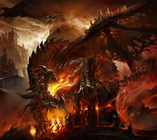 Обои на телефон смерть, огонь, мир, крыло, дракон, варкрафт, fire dragon, deathwing, death wing