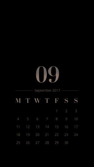 Обои на телефон календарь, черные, сентябрь, классика, sept, classic black