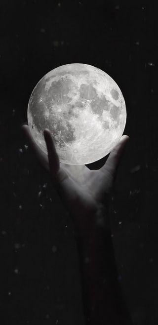 Обои на телефон лунный свет, луна, космос, духовные, holding the moon, full, note 8