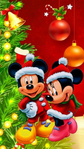Обои на телефон счастливое, рождество, мультфильмы, микки, mickey mause