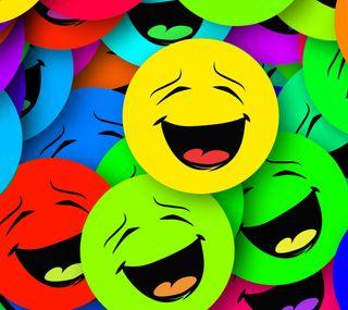 Обои на телефон смайлы, фиолетовые, синие, красые, зеленые, желтые, аква, абстрактные
