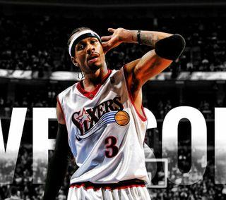 Обои на телефон баскетбол, спорт, нба, nba, allen iverson