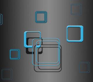 Обои на телефон квадраты, синие