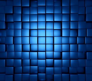 Обои на телефон кубы, синие, блоки, 3д, 3d