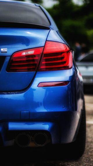 Обои на телефон седан, синие, машины, м5, зад, вид, бмв, автомобили, авто, f10, bmw