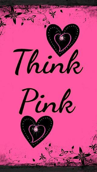 Обои на телефон думать, черные, слово, сердце, розовые, логотипы, буквы, s7