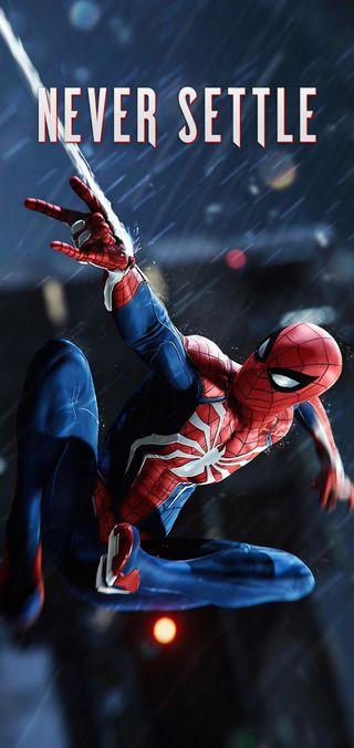 Обои на телефон человек паук, супергерои, решить, пс4, никогда, мстители, марвел, игра, возвращение домой, ps4, never settle, oneplus never settle, oneplus, marvel