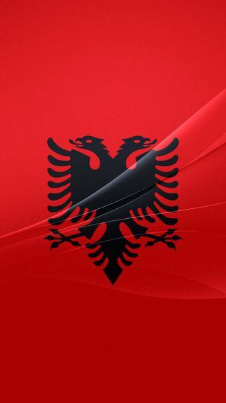 Обои на телефон символ, черные, флаг, орел, логотипы, красые, албания, z4, xperia