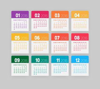 Обои на телефон календарь, новый, год, 2016