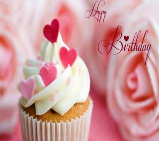 Обои на телефон чашка, цветные, торт, счастливые, специальные, приветствия, пожелания, подарок, моменты, день рождения, happy, birthday cup-cake
