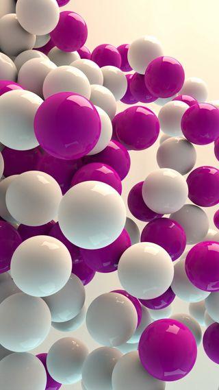 Обои на телефон parallax, 3d balls, абстрактные, 3д, лучшие, стекло, шары, пузыри, эффекты