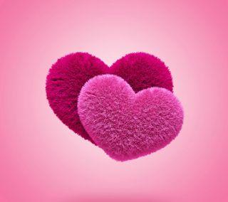 Обои на телефон романтика, сердце, розовые, пушистые, любовь, валентинка, love, fluffy hearts
