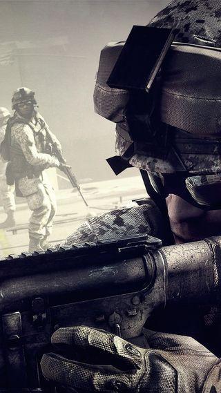 Обои на телефон оружие, игра, война, battlefield