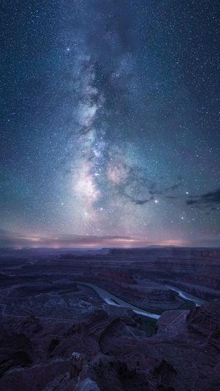 Обои на телефон великий, удивительные, путь, прекрасные, млечный, космос, каньон, земля