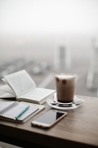 Обои на телефон чай, утро, туманные, окно, новый, книга, pexel, hd