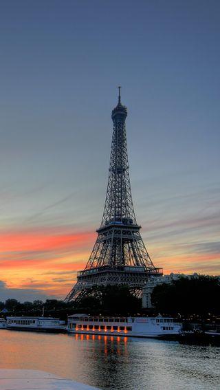Обои на телефон париж, природа, город, башня