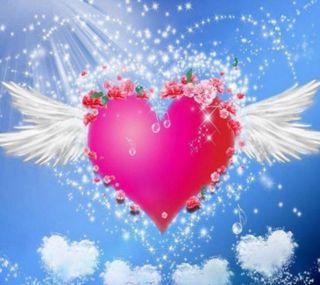 Обои на телефон сердце, небо, любовь, день, 2160x1920px, love