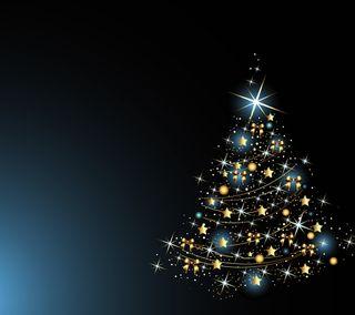 Обои на телефон дерево, рождество, векторные, абстрактные