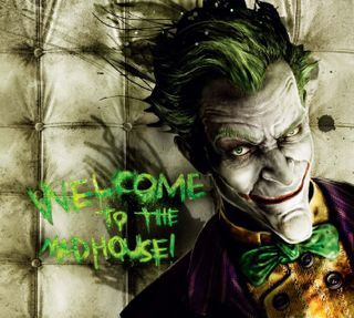 Обои на телефон безумные, дом, джокер, welcome to the mad house