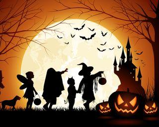 Обои на телефон тыква, хэллоуин, темные, свет, жуткие, готические