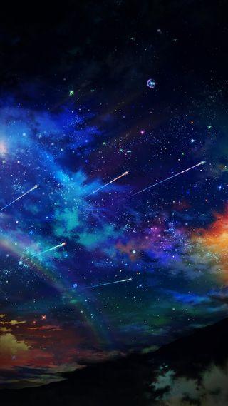 Обои на телефон ок, удивительные, темные, приятные, облака, небо, крутые, классные, звезды