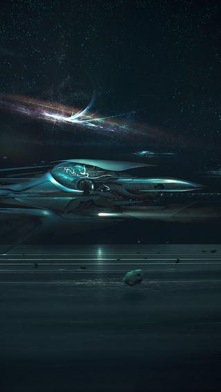 Обои на телефон фантастика, наука, темные, синие, поездка, космос, корабли, space ride, sci, fi, abyss