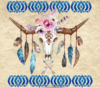 Обои на телефон племенные, череп, цветы, арт, абстрактные, art, arrows