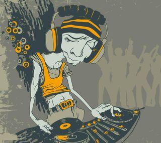 Обои на телефон музыка, диджей, арт, the dj, dj, darkdroid, audio, art