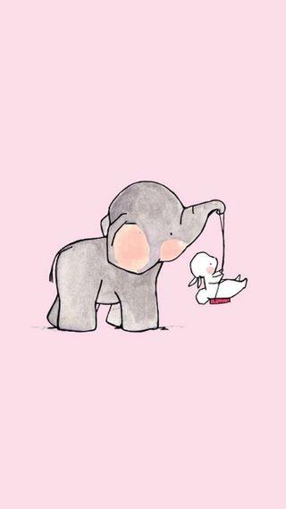 Обои на телефон кролики, слон, милые, кролик, дружба