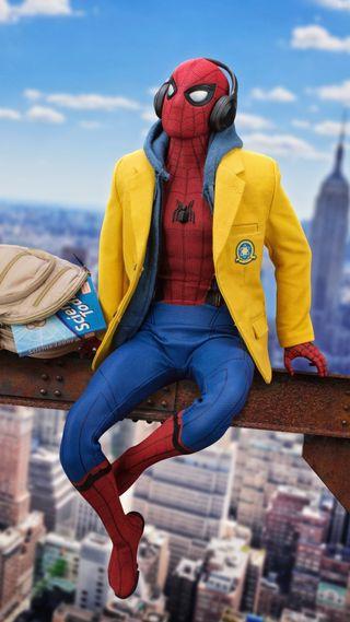 Обои на телефон человек паук, герой, фильмы, фильм, синие, паук, небо, город, man, hd