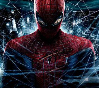 Обои на телефон летать, фантазия, удивительные, паук, ночь, небо, марвел, герой, война, арт, marvel, art