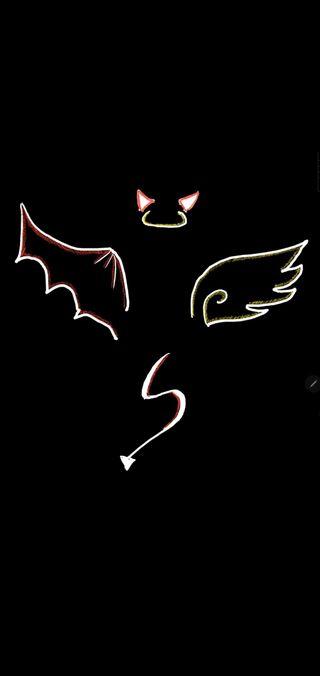Обои на телефон плохой, люцифер, дьявол, ангел, good, bad
