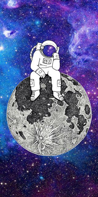 Обои на телефон galaxy, черные, синие, галактика, космос, звезды, флаг, земля, планета, пришелец, космонавт