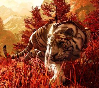 Обои на телефон тигр, далеко, shangri-la tiger, shangri la, far cry 4, far cry
