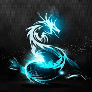 Обои на телефон черные, синие, дракон, айпад, hd, dragon, blue dragon