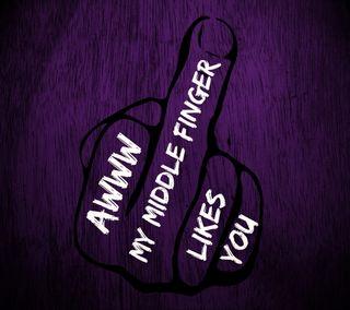 Обои на телефон палец, черные, цитата, фиолетовые, ты, средний, поговорка, likes