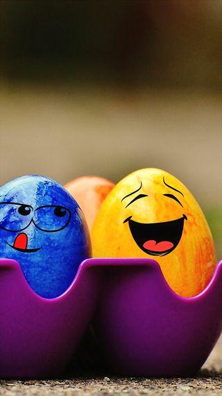 Обои на телефон яйца, пасхальные, счастливые, праздник, милые, забавные, желтые, laughing, happy