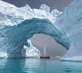 Обои на телефон рай, море, лед, paradise  ice  sea, ice sea