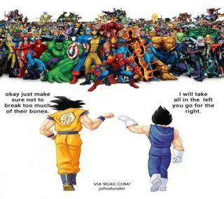 Обои на телефон драгонболл, человек паук, марвел, комиксы, забавные, гоку, аниме, marvel, go get em, dbz