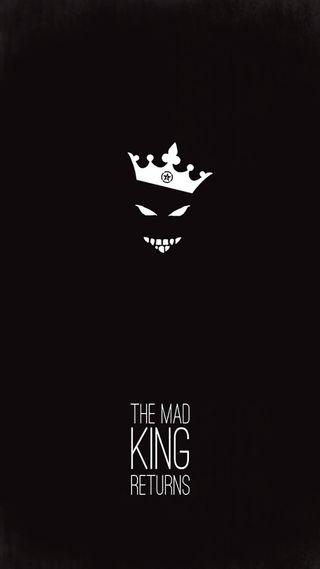 Обои на телефон сумасшедшие, смайлики, корона, король, безумные, the mad king returns, sinister, royalty