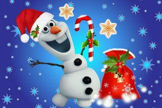 Обои на телефон подарок, холодное, счастливое, снеговик, рождество, олаф