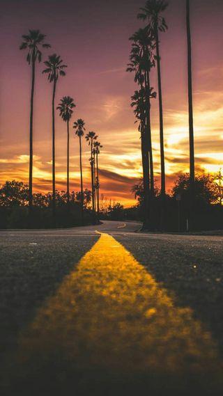 Обои на телефон пейзаж, калифорния, закат, beautuful