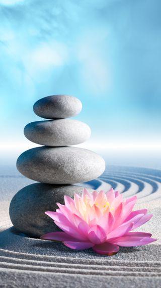 Обои на телефон песок, цветы, спа, лотус, камни, дзен, zen stones and lotus