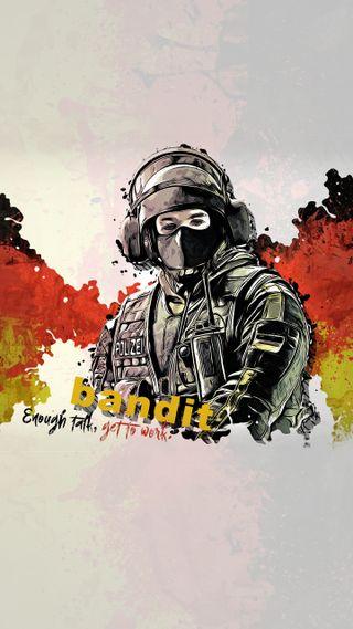 Обои на телефон шесть, радуга, осада, rainbow six siege, bandit operator, bandit