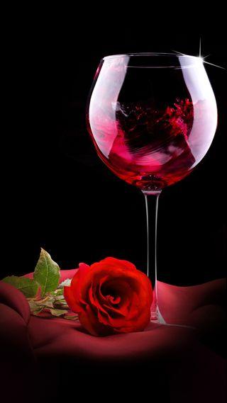 Обои на телефон love, любовь, красые, розы, стекло, напиток, вино